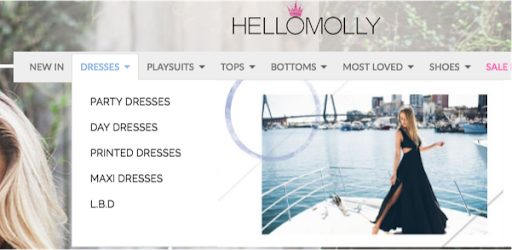 hello molly website structure