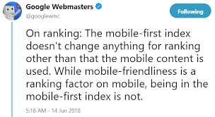 mobile first index update