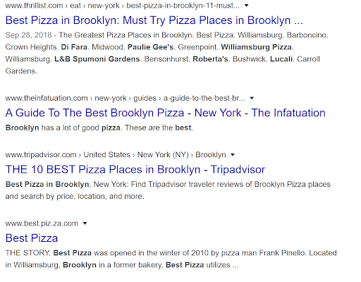 best pizza meta description example