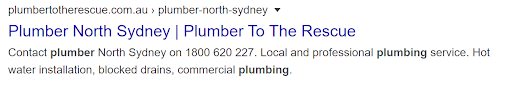north sydney plumbers meta description