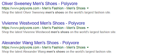 polyvore repetitive meta descriptions