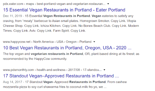 search results vegan restaurants