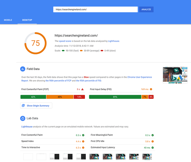 google-pagespeed-insights-update