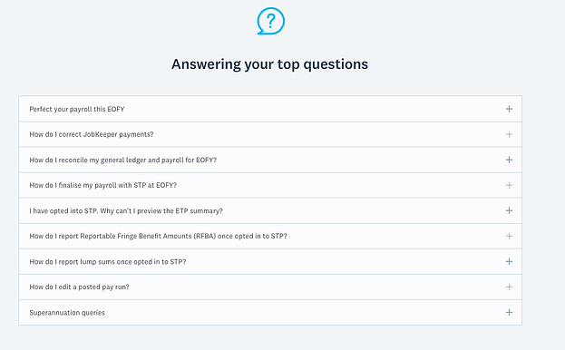 long FAQ section example