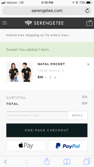 mobile checkout example