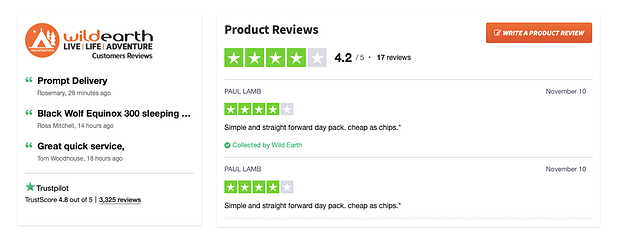 product reviews -ecommerce sales examples