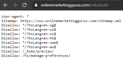 robots.txt file example OMG